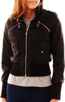 Joujou Jou Jou Flap-Pocket Zip-Front Bomber Jacket