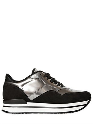 Hogan 30mm Suede Mirrored Patent Sneakers