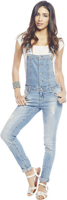Wet Seal Destroyed Roll Cuff Overall