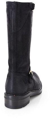 Ralph Lauren Maxine Double Buckle Suede Boots