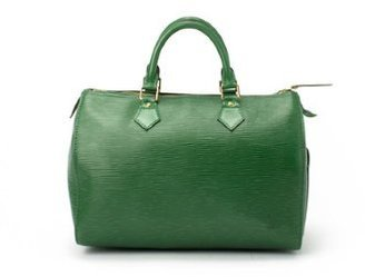 Louis Vuitton Pre-owned: green epi leather 'Speedy 30' bag