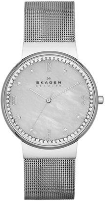 Skagen Women's Stainless Steel Mesh Bracelet Watch 34mm SKW2127