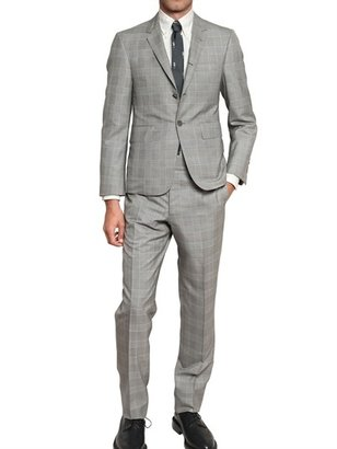 Thom Browne Prince Of Wales Wool And Silk Suit