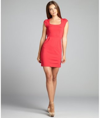 French Connection hot pink jersey 'Georgia' cap sleeve dress