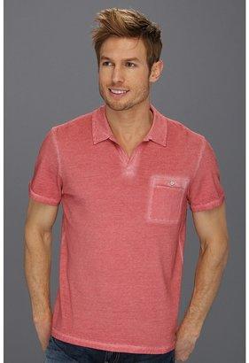 Calvin Klein Jeans Spray w/ White Stitching S/S Polo (Coral Rhyme) - Apparel