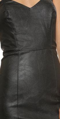 Myne Strapless Faux Leather Dress