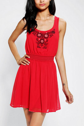 Urban Outfitters Ecote Embroidered Heidi Dress