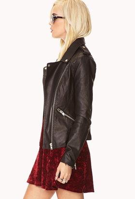Forever 21 Moto Babe Faux Leather Jacket