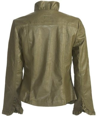 Pulp Faux-Leather Jacket - Ruffle Trim (For Women)