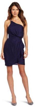 BCBGeneration Women's One Shoulder Ruffle Dress