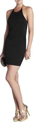 BCBGMAXAZRIA Leto Back-Chain Halter-Neck Dress
