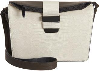 Narciso Rodriguez Colorblock Lizard Shoulder Bag