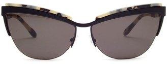 Prism 'Berlin' matte acetate cat-eye framed sunglasses