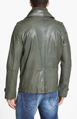 Diesel 'L-Kora' Double Breasted Leather Jacket