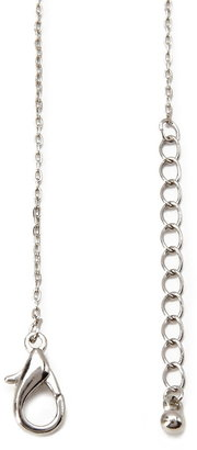 Forever 21 textured zebra charm necklace
