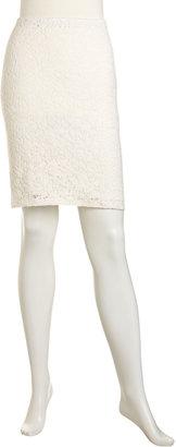 Velvet by Graham & Spencer Lace Pencil Skirt, Oyster