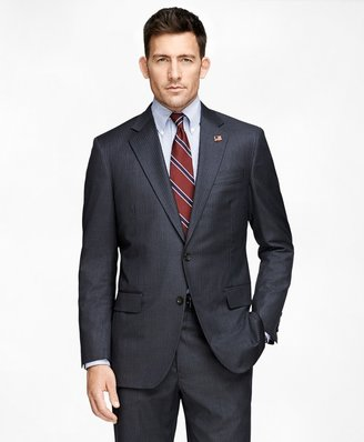 Brooks Brothers Madison Fit Saxxon Grey with Blue Stripe 1818 Suit