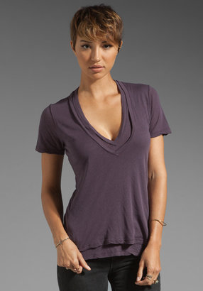 Monrow Double Tissue V Neck