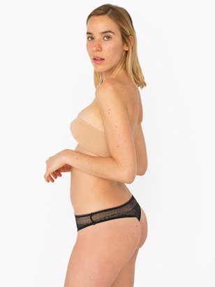 American Apparel Abstract Lace Mid-Rise Thong