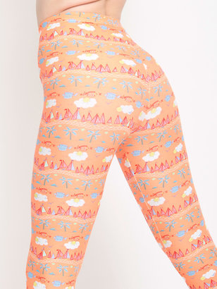American Apparel Tangerine Sailor Nylon Leggings