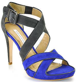Diane von Furstenberg Jodi - Royal Blue and Asphalt Platform Sandal