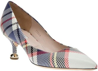 Dries Van Noten checked pump