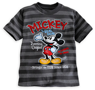 Disney Mickey Mouse Striped Tee for Boys