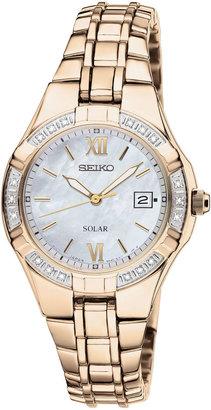 Seiko Womens Diamond-Accent Solar Watch SUT070 $425 thestylecure.com