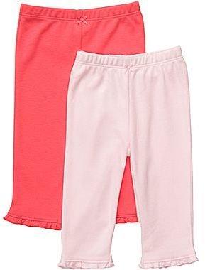 Carter's 2-pk. Pink and Poppy Pants - Girls newborn-24m