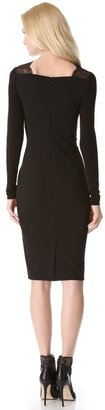 Donna Karan Long Sleeve Dress with Lace