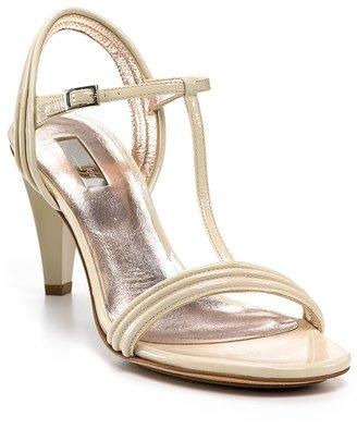 "Calvin Klein Collection ""Bea"" Patent T-Strap High Heel Sandals"