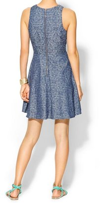 Juicy Couture Skies Are Blue Paisley Denim Dress