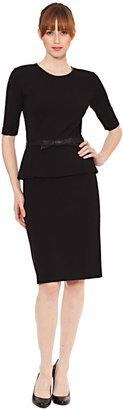 Raoul Lydia Peplum Bow Dress in Black