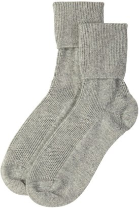 Johnstons of Elgin Silver Womens Cashmere Socks
