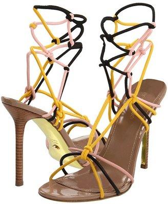 Sergio Rossi A41420 (Yellow/Black/Pink) - Footwear