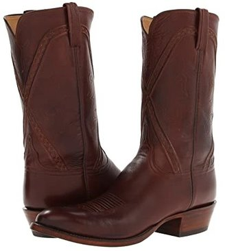 Lucchese L1661.63 (Whiskey Burnished Baby Buffalo) Cowboy Boots