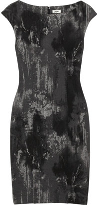 L'Agence Printed stretch-twill dress