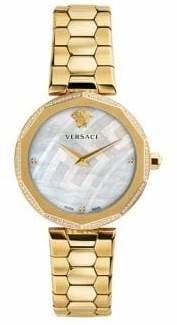 Versace Idyia Stainless Steel Diamond Bracelet Watch