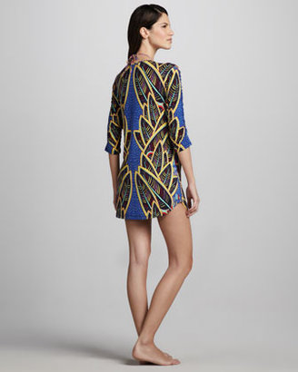Mara Hoffman Psychic Readings Printed Coverup Dress