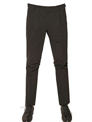 Karl Lagerfeld Paper Cotton Pleated Chino Trousers