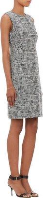 Barneys New York Tweed Sheath Dress-Black
