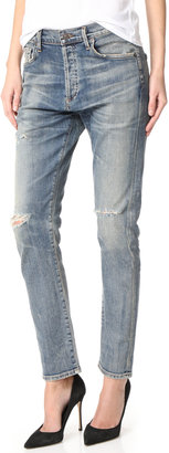 Citizens of Humanity Corey Straight Leg Ripped Jeans $268 thestylecure.com
