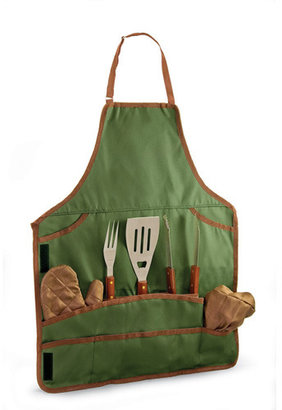 Picnic Time Barbeque Tool Set and Apron Tote