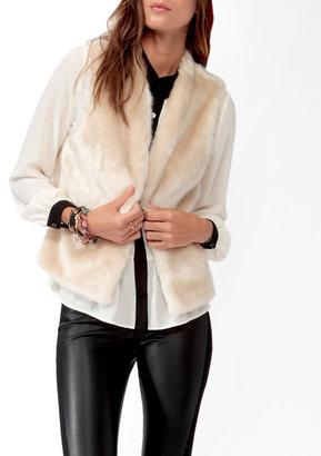 Forever 21 Open Faux Fur Vest