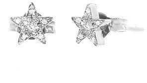 Jennifer Meyer White Gold Diamond Mini Star Studs