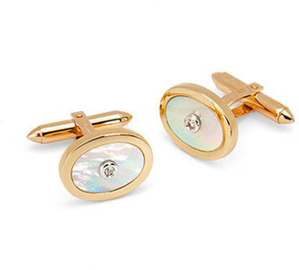Aspinal of London Round Mother of Pearl Gemset Cufflinks