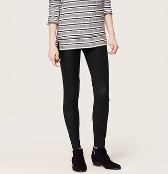 LOFT Petite Lou & Grey Charcoal Back-Zip Leggings