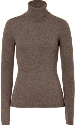 Malo Warm Taupe Cashmere Turtleneck