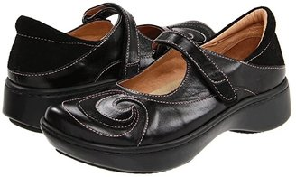 Naot Footwear Sea (Black Suede/Shiny Leather) Women's Shoes