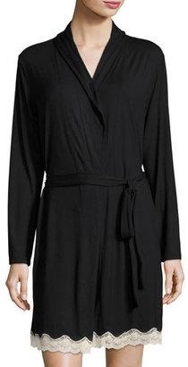 Eberjey Lady Godiva Lace-Trimmed Robe $106 thestylecure.com
